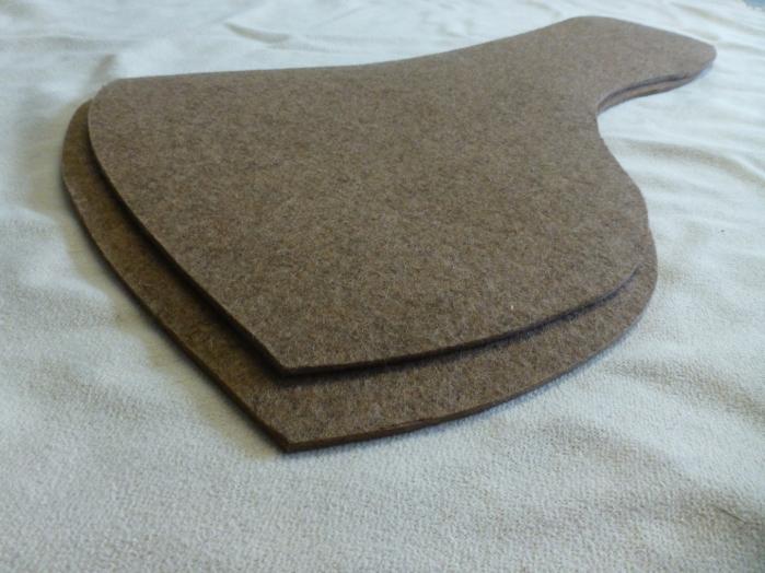 Diese Inlay sind aus reinem Wollfilz gefertigt.